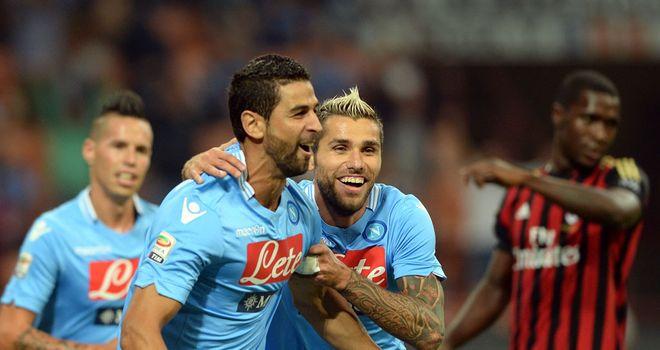 Miguel Britos celebrates for Napoli