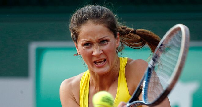 Bojana Jovanovski: Cruised into the Tashkent Open final with victory over her Spanish opponent