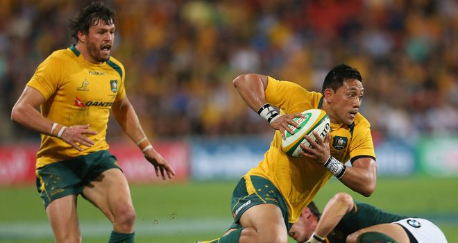 Christian Leali'fano kicked all of Australia's points in the heavy defeat to South Africa