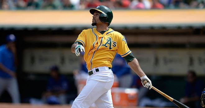 Coco Crisp: Hit two home runs in Oakland's victory over Texas