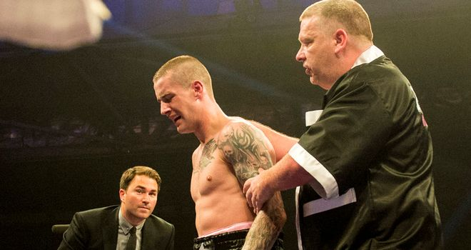 Ricky Burns suffered a broken jaw during his controversial draw with Raymundo Beltran