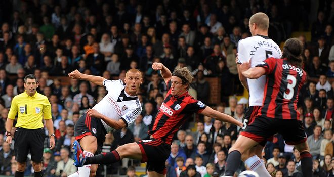 Steve Sidwell: The midfielder opened the scoring for Fulham before Gareth McAuley headed home an equaliser