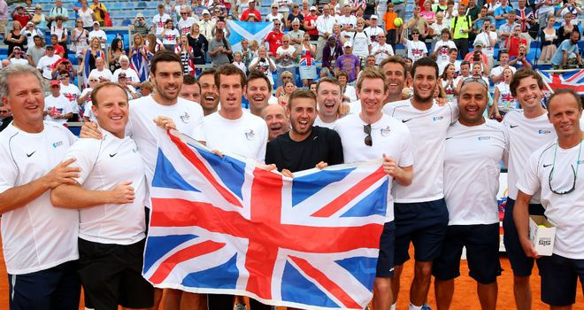 Great Britain: Will take on Jim Courier's United States in February