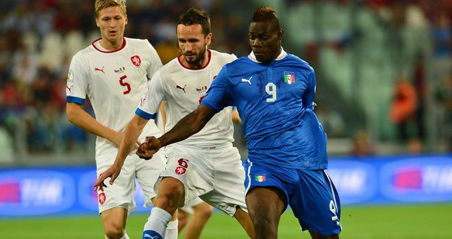 Mario Balotelli: Spot-on for Italy against Czech Republic