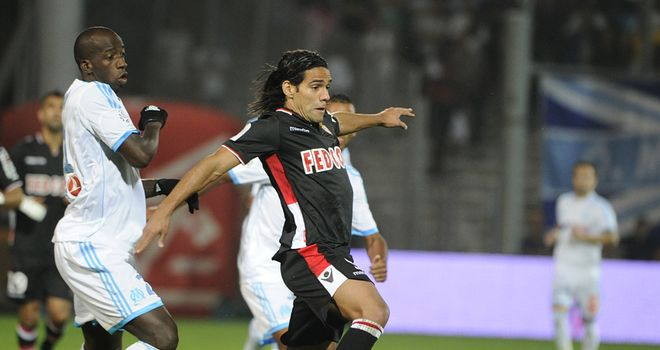 Radamel Falcao in action for Monaco.