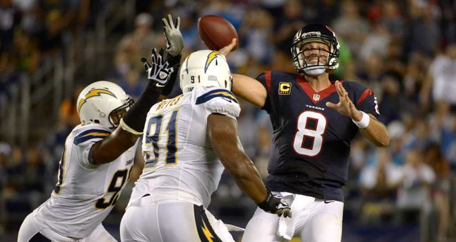 Matt Schaub: Three TD passes and a winning late drive