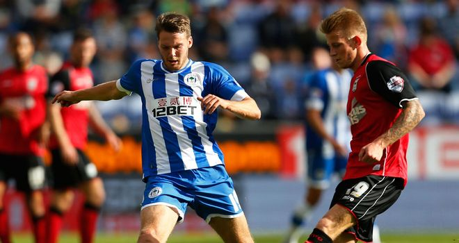 Nick Powell: Scored as Wigan won