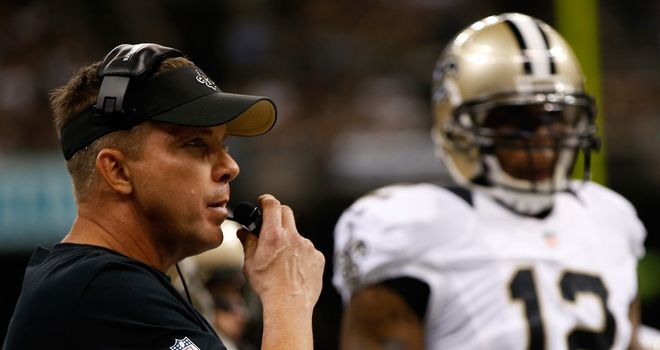 Sean Payton (left): Was back on the NFL sidelines after being suspended for the previous season