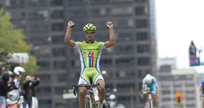 Peter Sagan celebrates his victory at the GP de Montreal