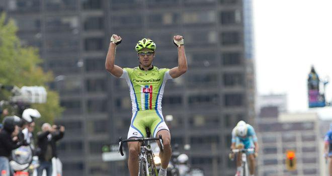 Peter Sagan celebrates his victory at the GP de Montreal