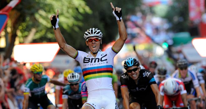 Philippe Gilbert: Took his first win in the rainbow jersey