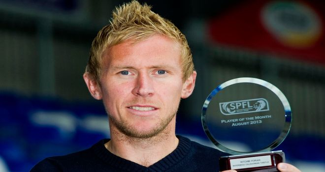 Richie Foran: Scottish Premiership Player of the Month for August
