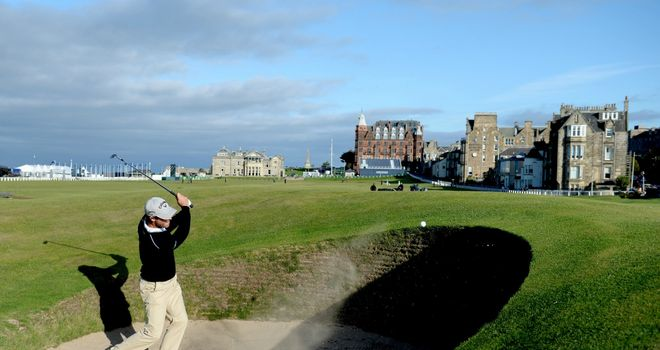 The famous Road Hole at St Andrews