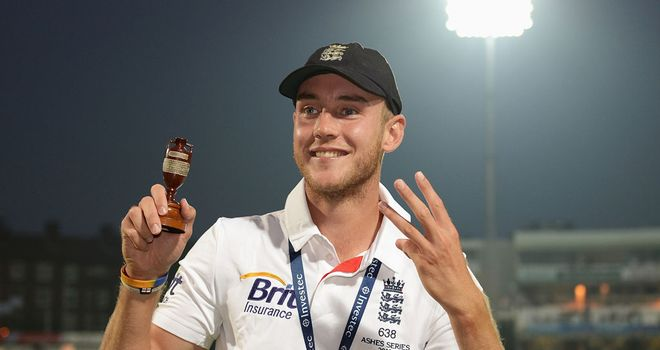 Stuart Broad played a key role in England's Ashes win this summer