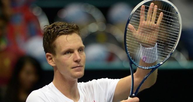 Tomas Berdych: Will meet Milos Raonic in the Thailand Open final on Sunday