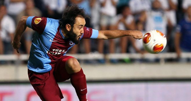Trabzonspor's Turkey midfielder Olcan Adin