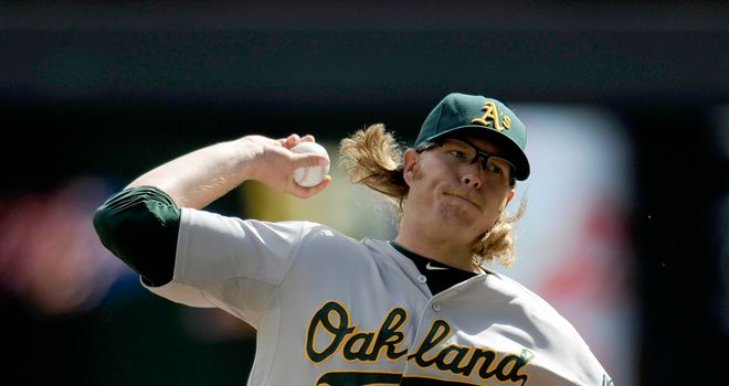 AJ Griffin: Oakland Athletics pitcher gave up two hits over seven innings during victory at Minnesota Twins