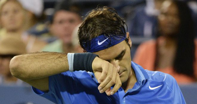 Roger Federer looked as down as ever at Flushing Meadows