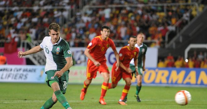 Aaron Ramsey: His penalty was not enough to prevent Wales defeat in Macedonia