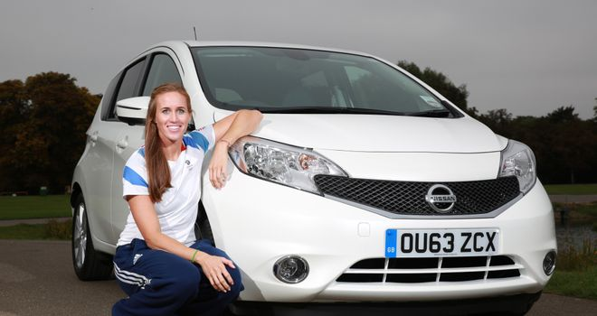 Helen Glover joins Nissan at the launch of the new Note at Eton Dorney (www.nissan.co.uk)