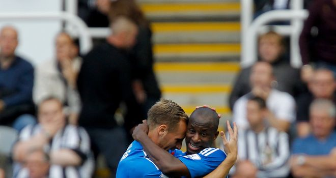 Sone Aluko: Celebrates his superb winner for Hull City at Newcastle