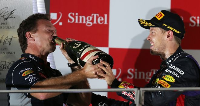 Red Bull: Yet more bubbly for Horner and Vettel