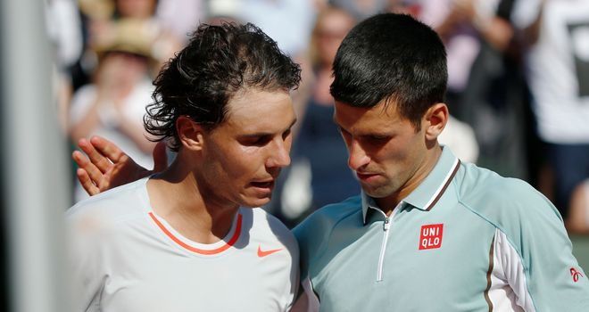 Novak Djokovic and Rafael Nadal: Set to meet for a 37th time