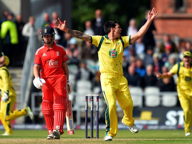 Mitchell Johnson: Gets stick from the crowd in England