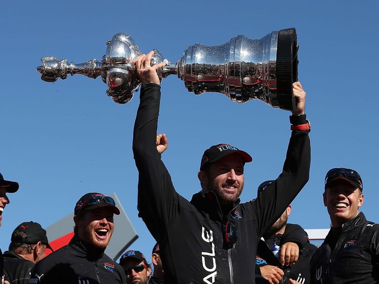 Ben Ainslie lifts the America's Cup - can he win it again with a GB team?