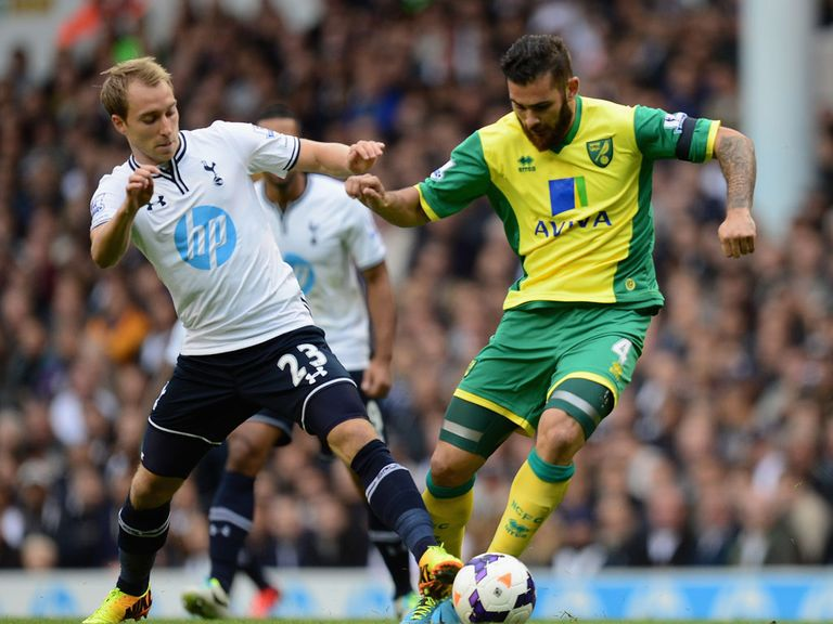 Christian Eriksen in action on his Tottenham debut.