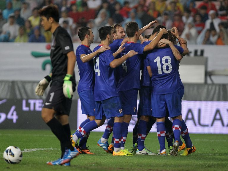 Croatia celebrate against South Korea