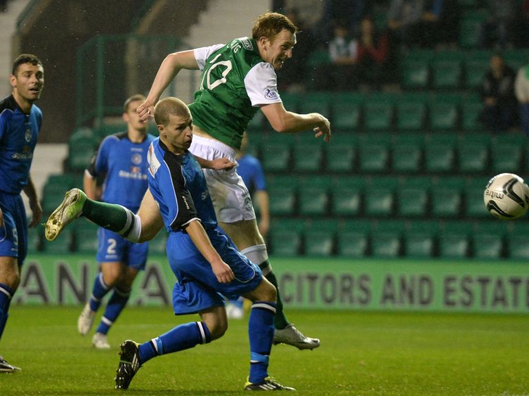 Liam Craig: On target in Hibernian's victory over Stranraer