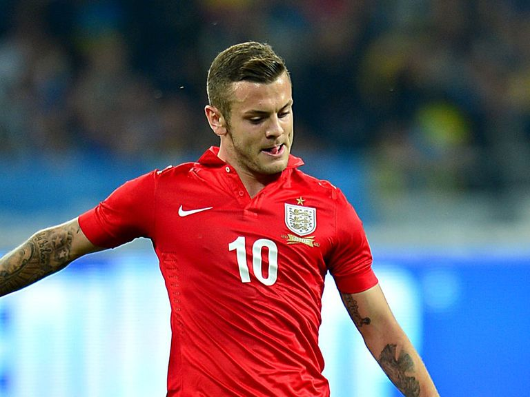 Jack Wilshere: In action for England on Tuesday