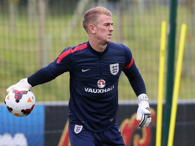 Joe Hart trains on Tuesday.