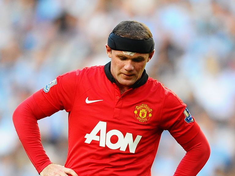 Rooney: Suffered an injury in training