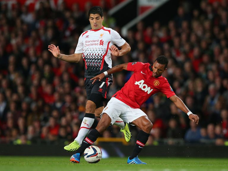 Luis Suarez in action on his Liverpool return.