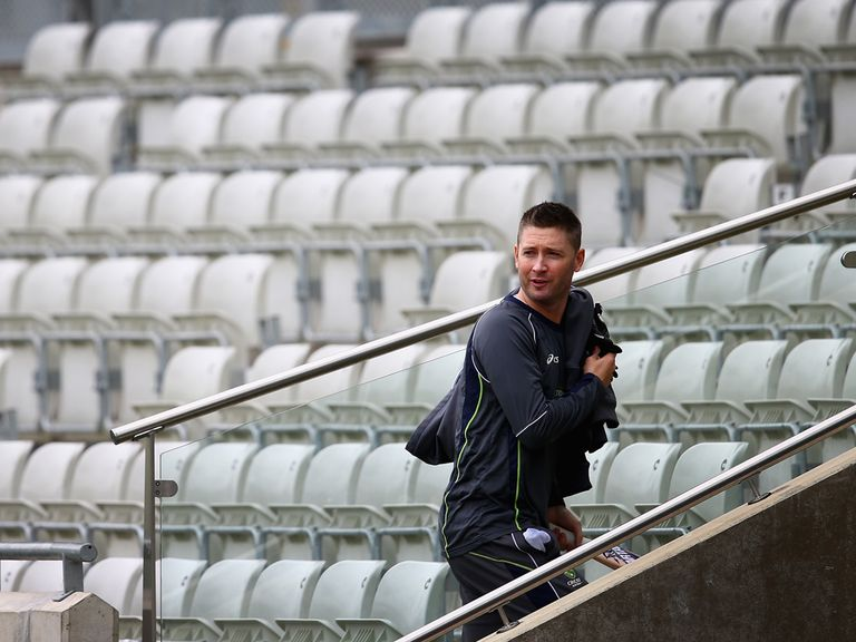 Michael Clarke: Resumed batting practice