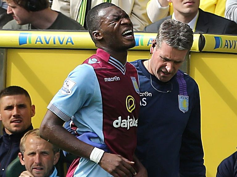Christian Benteke: Ruled out by hip injury