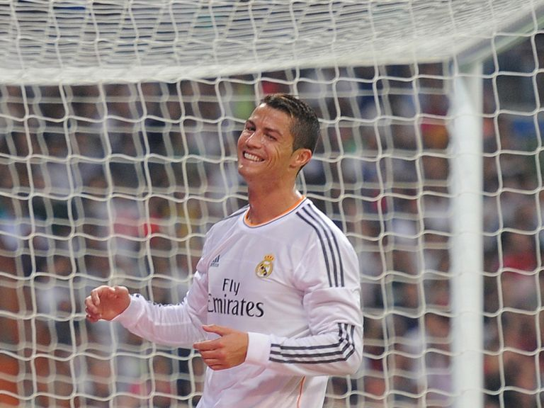 Cristiano Ronaldo celebrates for Real Madrid