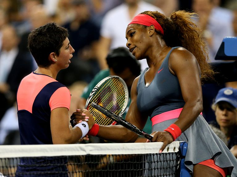 Serena Williams at the end of a one-sided affair with Carla Suarez Navarro