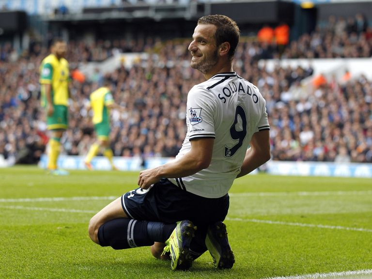 Roberto Soldado is one of the new faces impressing for Tottenham.