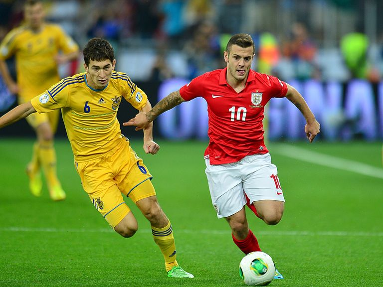 Jack Wilshere in action against Ukraine.
