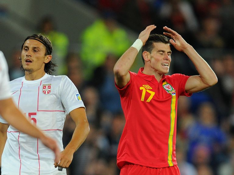 Gareth Bale: Played 32 minutes for Wales against Serbia