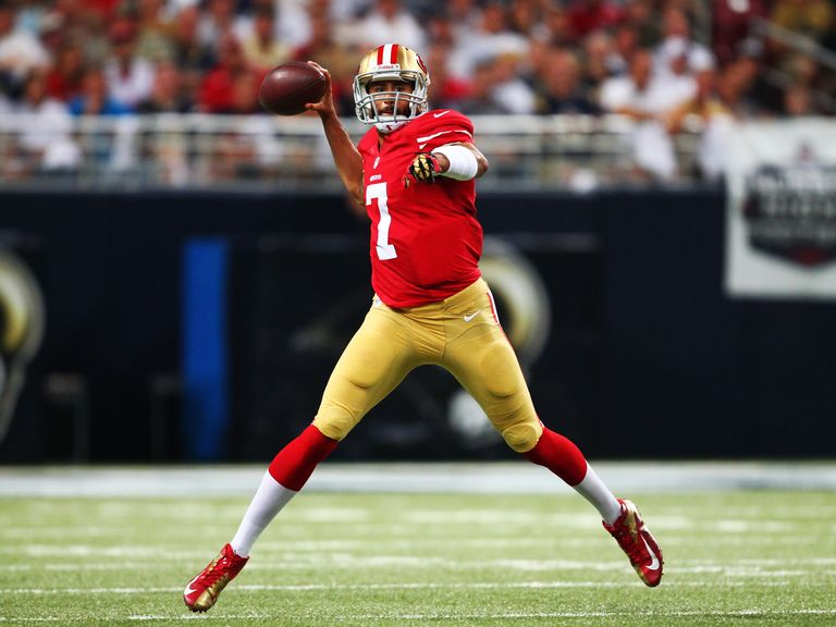 Colin Kaepernick threw two touchdown passes for the 49ers