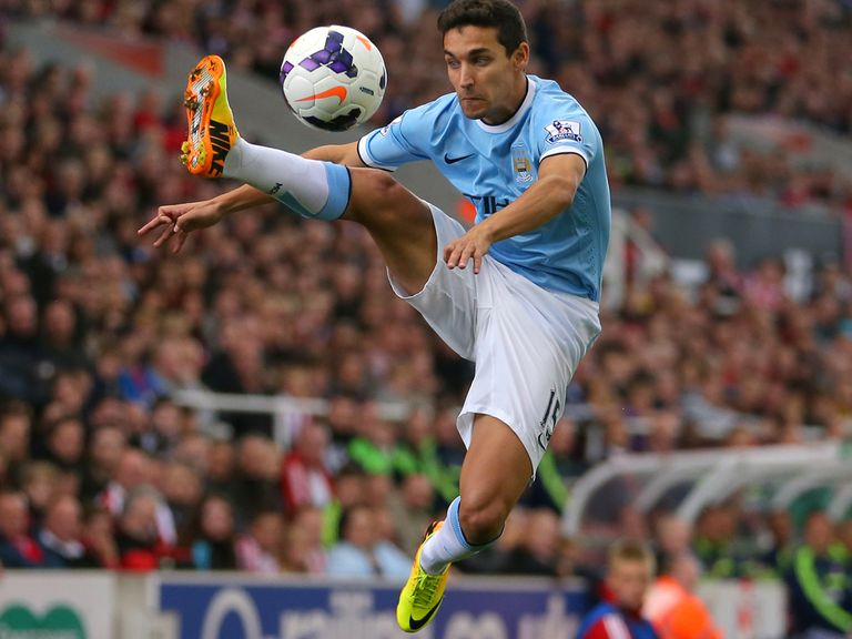Jesus Navas: Admits Manchester derby can be considered a 'six-pointer'
