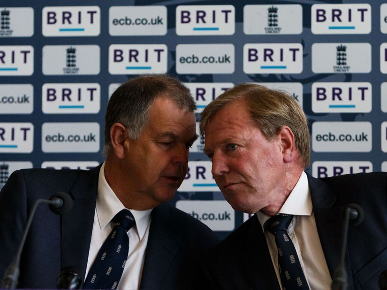 Geoff Miller (left) with former ECB Managing Director Hugh Morris