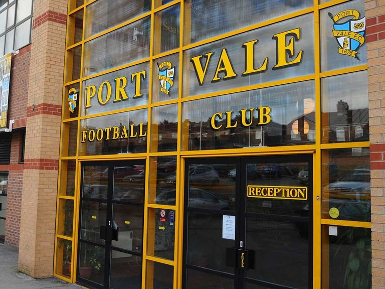 Trouble broke out at Port Vale