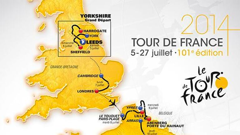 The route for the 2014 Tour de France was unveiled in Paris on Wednesday