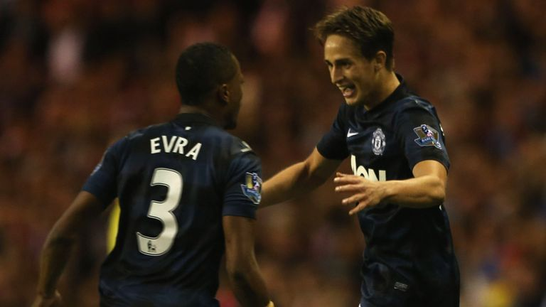 Januzaj: celebrates with Evra