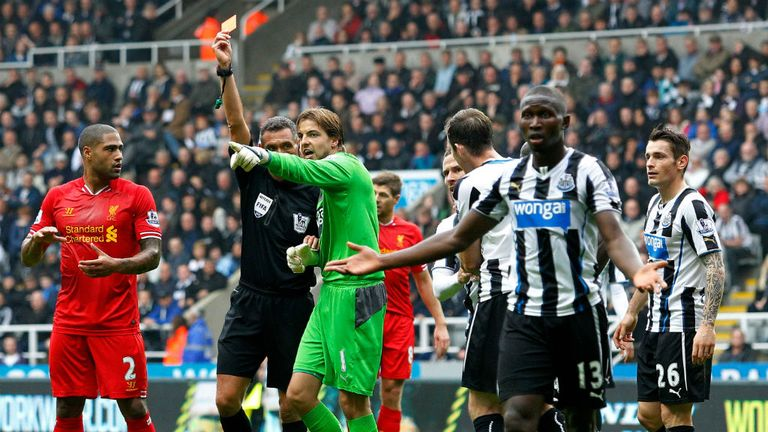 Mapou Yanga-Mbiwa: Sent off in Newcastle's 2-2 draw with Liverpool